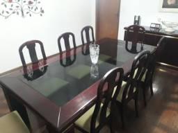 Título do anúncio: Mesa oito lugares com buffet
