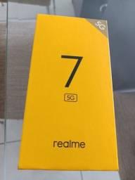 Título do anúncio: Realme 7 5g novo 6 de ram 128gb 1.400,00