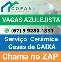 Título do anúncio: Equipe azulegista p/ Campo Grande MS