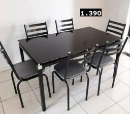 Título do anúncio: LiQUiDAÇAo Mesa Malva 6 cadeiras