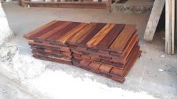 Deck tablado Madeira maciça 35x35 cm