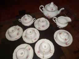 Conjunto de Chá Porcelana Schmidt pintado à mão