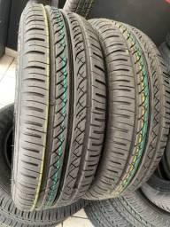 Título do anúncio: 04 pneus aro 14 185/65/14 Remolde tekys tyres