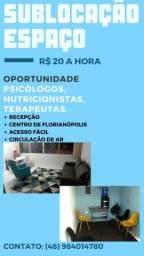 SUBLOCAÇÃO DE ESPACO para atendimento de psicólogos, nutricionistas e psiquiatras POR HORA