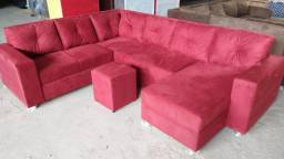 Título do anúncio: Sofa completo grande confortável entrega grátis