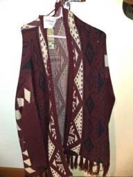 Casaco em lã tricotado
