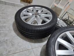 Jogo de roda aro 17 com pneus novos