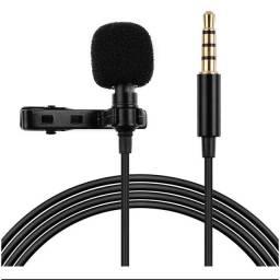 Título do anúncio: Microfone de Lapela Lavalier 3.5 Aux