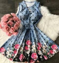 45,00 vestido bojo rodado floral barato