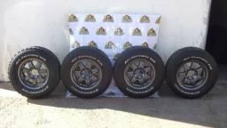 Jogo Rodas E Pneus 255/70/ R17 6x139 Troller Ranger Hilux Usado