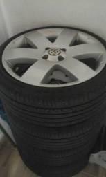 Jogo rodas aro 17, 4 furos incluído pneus