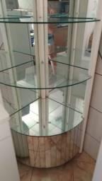 Vitrine de vidro espelhado