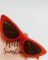 Óculos de sol - cateyes (red)