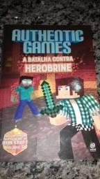 Livro AuthenticGames A Batalha contra o Herobrine