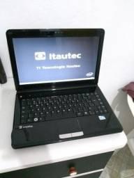 Notebook Itautec Muito Top. ACEITO CARTÃO. Confira!!!
