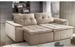Sofá Retrátil e Reclinável Mety- Várias Cores Super confort 2,30m *