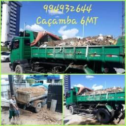 994932644 Caçamba 6Mt com ajudantes