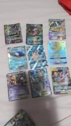 Cartas Pokémon várias ex gx e mega sx