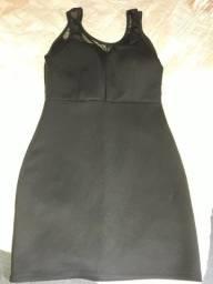 Vestido usado poucas vezes com bojo e tule tamanho p. .