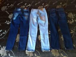 3 Calças jeans criança