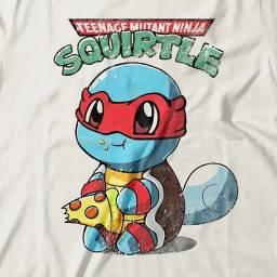 Camiseta Feminina Squirtle Ninja