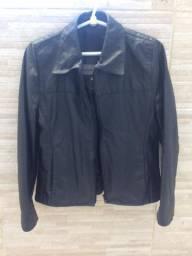 Jaqueta de couro legítimo- tam. G