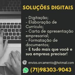 (97) Serviços Especializados em Digitação, Formatação de Documentos, dentre outros
