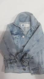 Jaqueta jeans unissex 1 a 2 anos