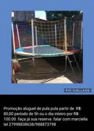 Pula pula cama elastica 80 reais o aluguel