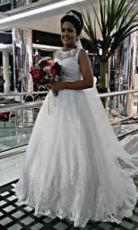 Título do anúncio: Vestido de Noiva.