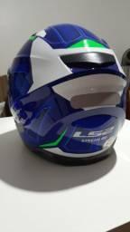 Capacete Ls2 Ff 320 Stream Edge C/ Óculos Interno Azul