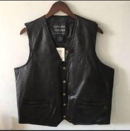 Título do anúncio: Colete de couro masculino sem mangas, jaqueta casual - NOVO