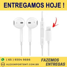Fone de Ouvido com fio para iPhone 7, iPhone 8