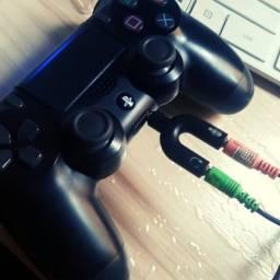 Título do anúncio: Adaptador Para Microfone Gamer P2 X P3 Splitter Plug Y Xbox Ps4 Pc Celular