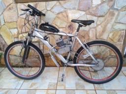 Bicicleta motorizada 80cc com nota fiscal, montada para venda. Rodados 10km para teste