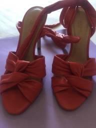 Sandália corello vermelha couro