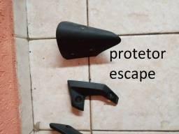 Título do anúncio: Protetor de silencioso Ferro moto yamaha mt03