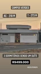 Casa térrea 220m² Campos Verdes Araras