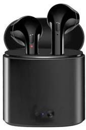 Fone de ouvido sem fio i7S TWS preto