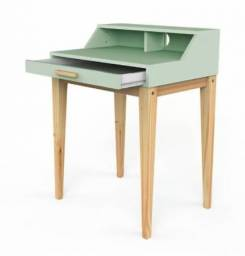 Título do anúncio: Escrivaninha Pine 70cm com Gaveta - Verde Claro