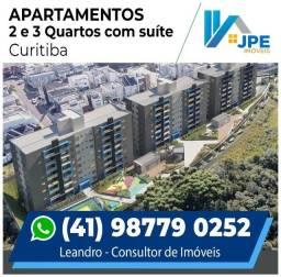 LJ@ Apartamento 2 e 3 quartos com suíte | Área nobre de Curitiba