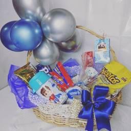 Título do anúncio: Cesta Festa Azul Dia da Criança