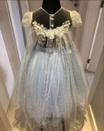 vestido de festa aniversário daminha frozen disney