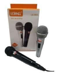 Par de microfones original Lelong. Promoção! Novo!