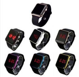 Relógio De Pulso Digital Com Led Militar Moda / Relógio Esportivo De Silicone