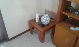 Título do anúncio: Mesa de canto de madeira com tampa de vidro