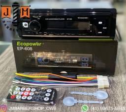 Rádio automotivo Ecopower Bluetooth Original Novo lacrado / somos loja física