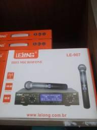 Título do anúncio: Microfone sem fio duplo profissional (Entrega)