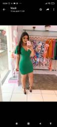 Vestido verde bandeira de bandage. Tamanho único