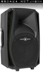 Caixa ativa framh com Bluetooth USB sd rádio 300wrms